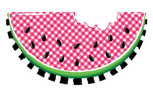 "12""L X 6.25""H Emboss Gingham Watermelon RED/BLACK/WHITE/GREEN MD0710"