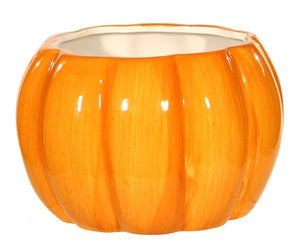 Pumpkin Bowl Vase 6""