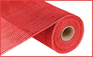 "10.25""X10Yd Deluxe Wide Foil Mesh Red W/Red Foil Re134124"