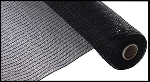 "10.25""X10Yd Wide Foil Mesh Black W/Black Foil Re136602"