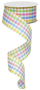 "1.5""X10Yd Mini Check Lime/Wh/Yllw/Blue/Pink Rg01051H5"