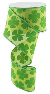 "2.5""X10Yd Shamrock On Royal Fresh Green/Kelly Green Rg0164409"