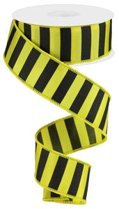 "1.5""X10YD MEDIUM HORIZONTAL STRIPE Yellow/Black RG0184229"
