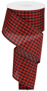 "2.5""X10yd Gingham Check Red/Black RGA1013WJ"