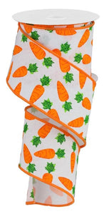 "2.5""X10Yd Carrots On Royal White/Orange/Green Rga158227"