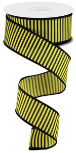 "1.5""X10Yd Horizontal Thin Stripes On Pg Yellow/Black Rgc119329"