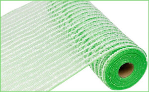"10.5""X10Yd Cotton Drift/Pp Mesh Lime/White Ry810266"