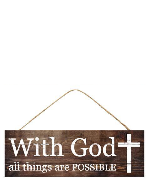 With God All Things w/Cross 15