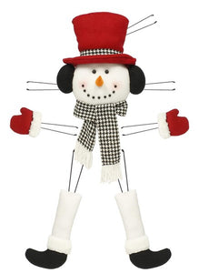 "5 Pc 31""H Snowman Decor Kit Crimson Red/Houndstooth XC610443"