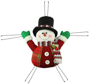 "13""L X 12""H Mini Snowman Red/Green/White Xc6179"