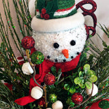 Snowman Winter Holiday Tabletop Centerpiece