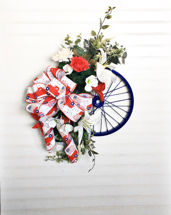 Patriotic Summer Wall Bicycle Rim