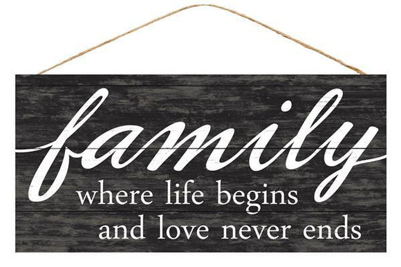 Family/Life/Love Sign 12.5