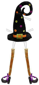 "Witch Hat & Leg Decor Kit 3 Pc 32""H"