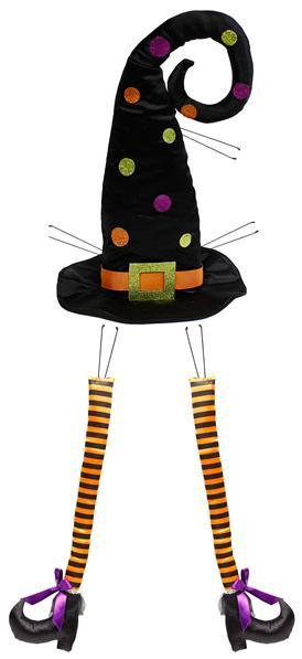 Witch Hat & Leg Decor Kit 3 Pc 32