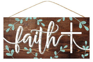 "Faith w/Cross 12""L X 6""H AP8228"