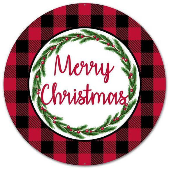 Merry Christmas Buffalo Plaid 12