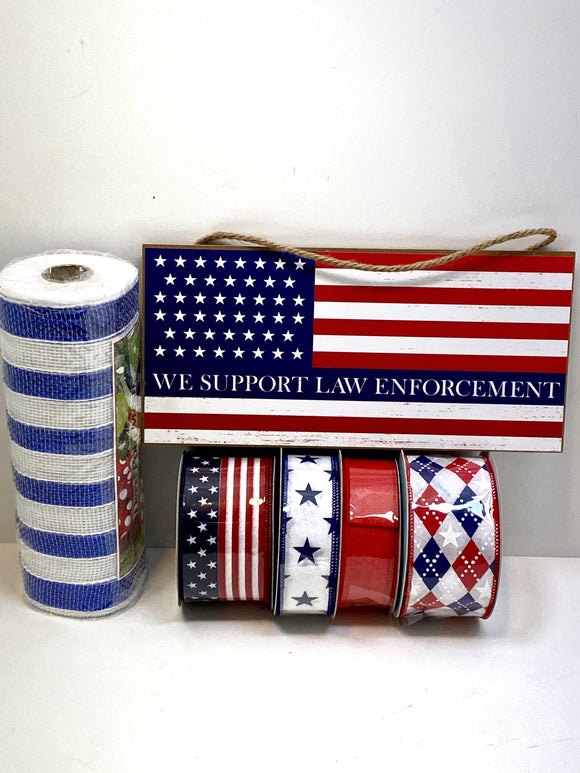 Support Law Enforcement Wreath kit (no frame)