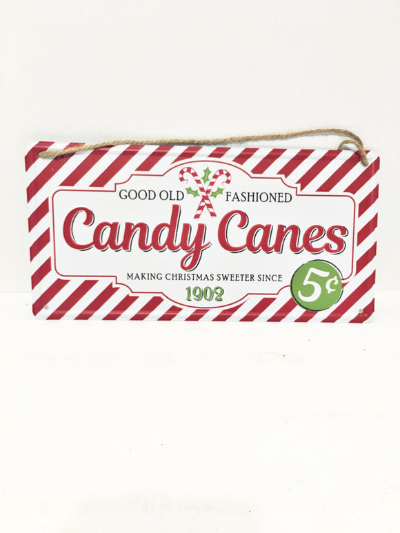 Candy Cane Tin sign 12