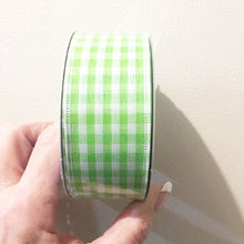 "Load image into Gallery viewer, 1.5""X10yd Gingham Fresh Green"