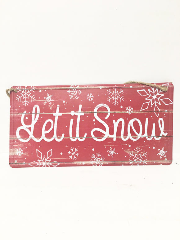Let It Snow Red Tin sign 12