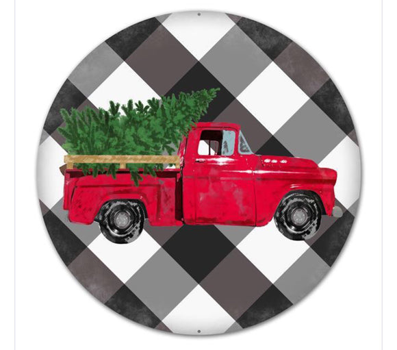 Vintage Merry Christmas Truck 12