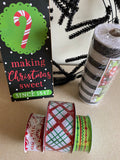 Making Christmas Sweet Wreath Kit