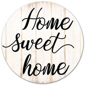 "12""Dia Home Sweet Home Sign AP0178"