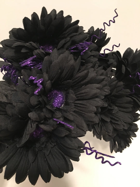 Black & Purple Halloween Daisy
