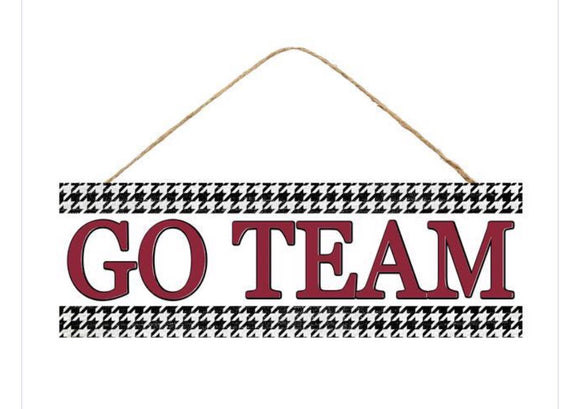 "15""X5"" Go Team Houndstooth"