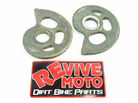 1985-1988 Honda XR250 XR600 Rear Axle Adjuster Plates