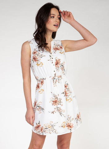White Sandlewood Sleeveless Dress