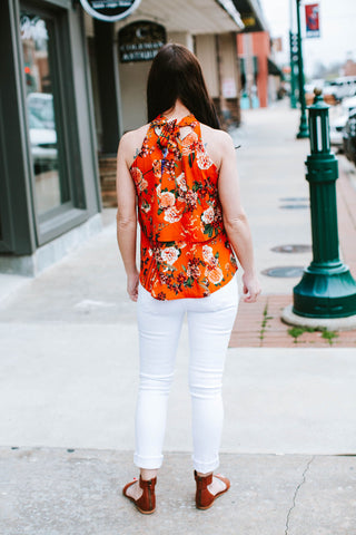 Bow Back Layered Top Orange Blossom
