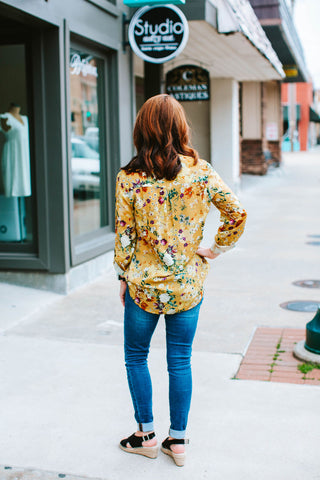 Ginger Floral Printed Viscose Top