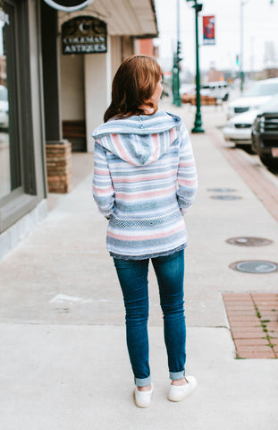 Tribal Blue Wave Sweater Hoodie