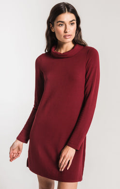 The Premium Fleece Turtleneck-Cabernet