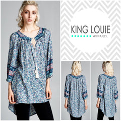 Paisley Tassle Tunic Top
