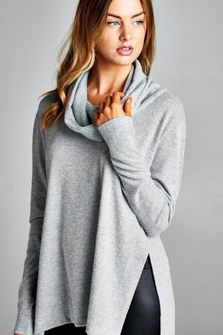Cowl Neck Soft Tunic