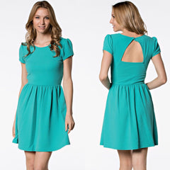 Turquoise Teacup Dress