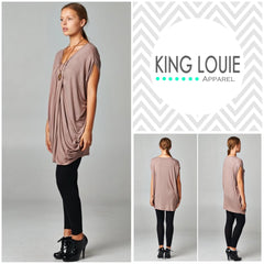 Taupe Layered Tunic Top