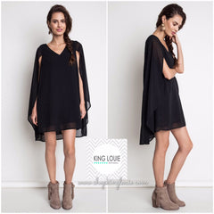 Little Black Cape Dress