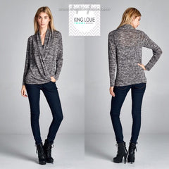 Cross-front Sweater Top