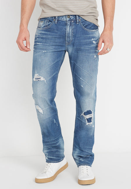 Buffalo Ash jean with rips
