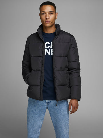 jack and jones black puffer jacket