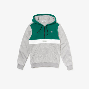 lacoste grey pullover hoody