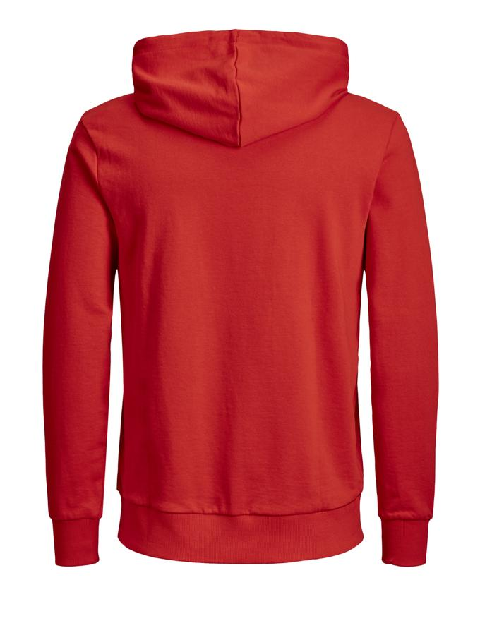jack and jones red hoodie