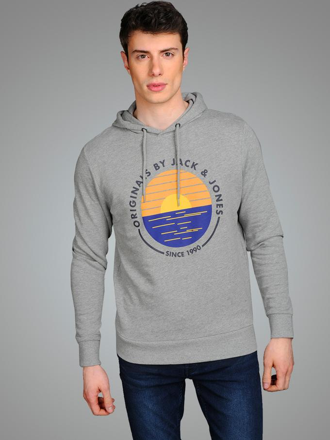 jack and jones grey hoodie