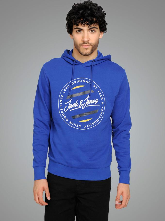 jack and jones blue hoodie