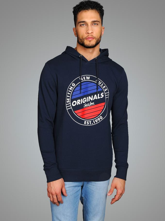 jack and jones navy hoodie