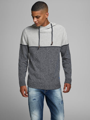 jack and jones brayson knit hoodie
